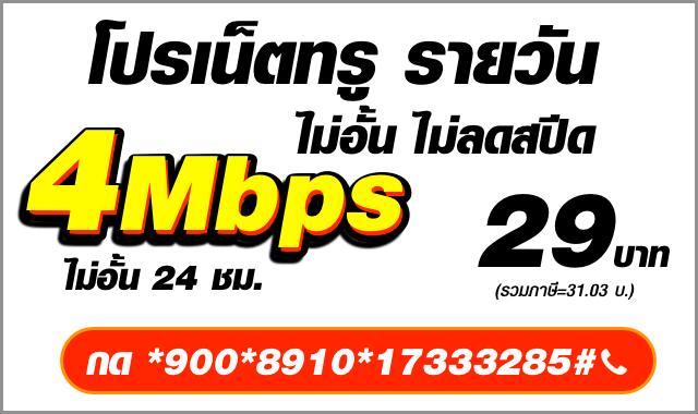 โปรเน็ตทรู 4mbps:1d-17333285